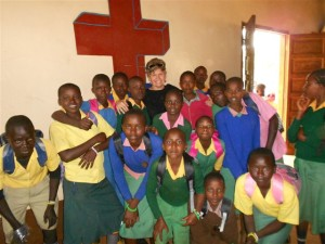 Nancy with the Kenya Kids