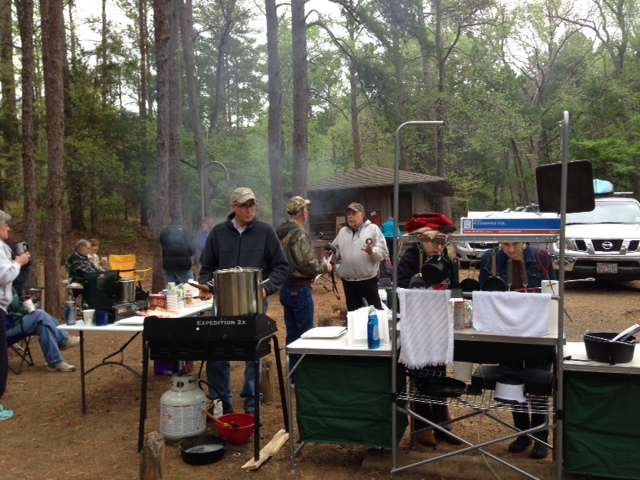 Here's a picture from a retreat at Tyler State Park this Spring