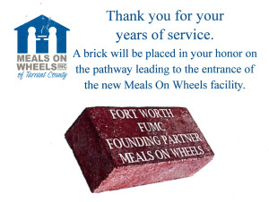 Meals on Wheels Brick Card