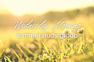 Wednesday Morning Summer Study Group_HS