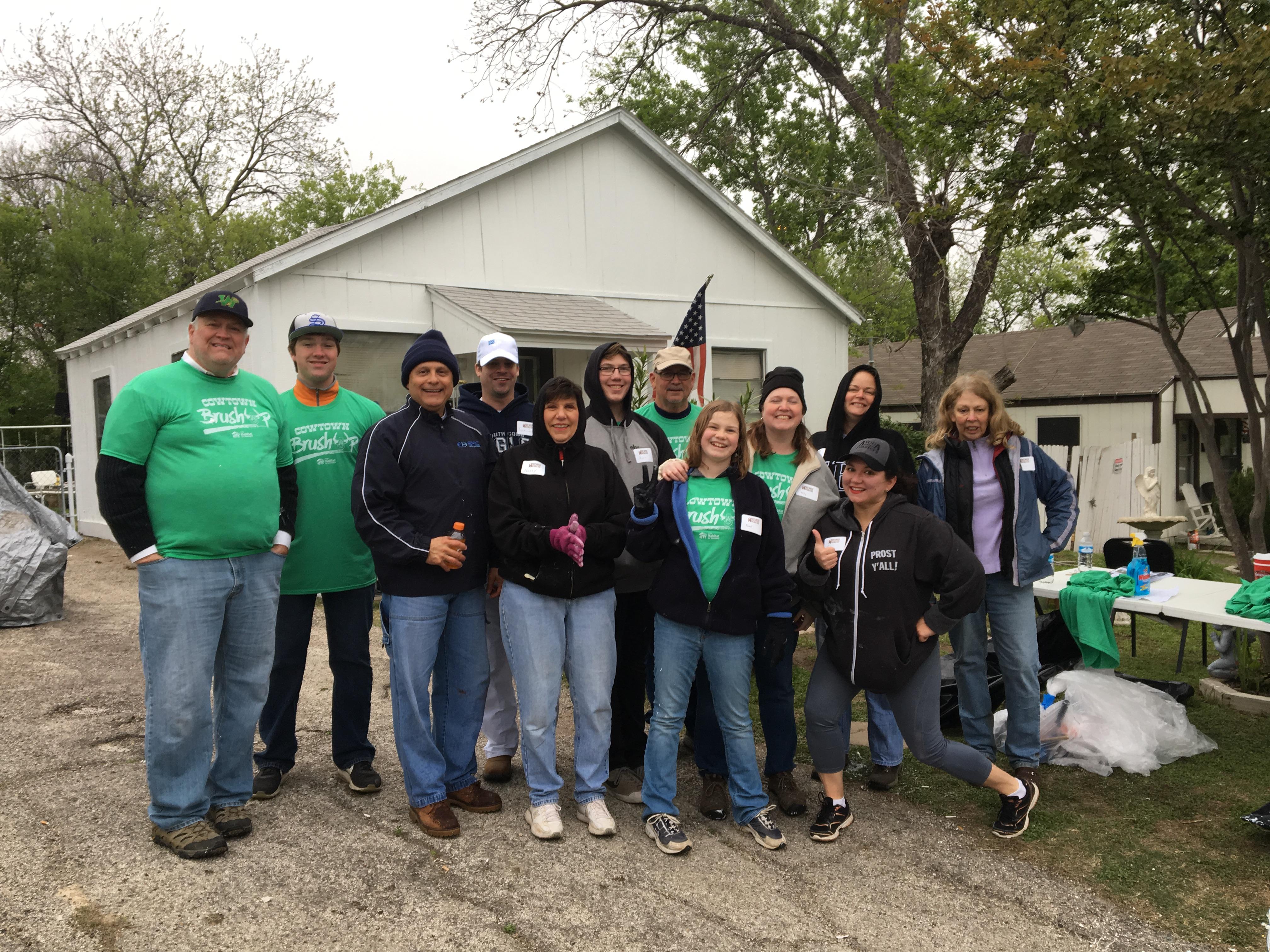 Volunteers Brush Up Cowtown